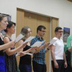 Tanári kar éneklése